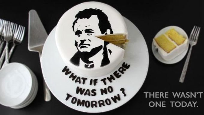 Bill Murray Groundhog Day Cake