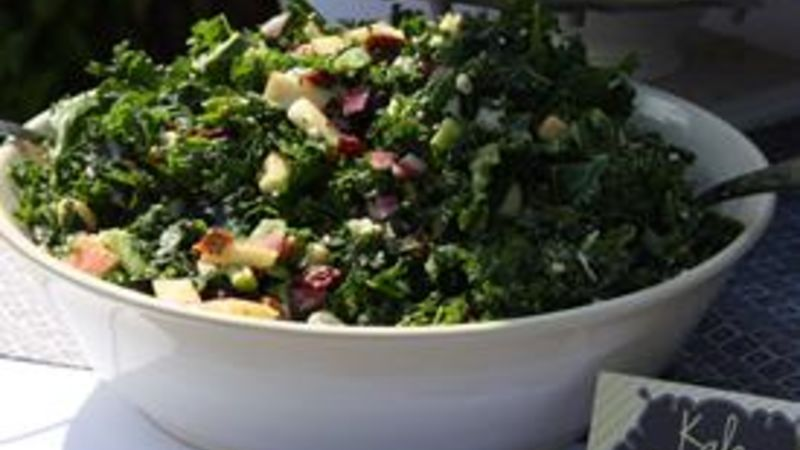 Apple, Kale, and Feta Salad