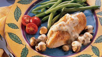 Skillet Chicken and Mushrooms au Gratin