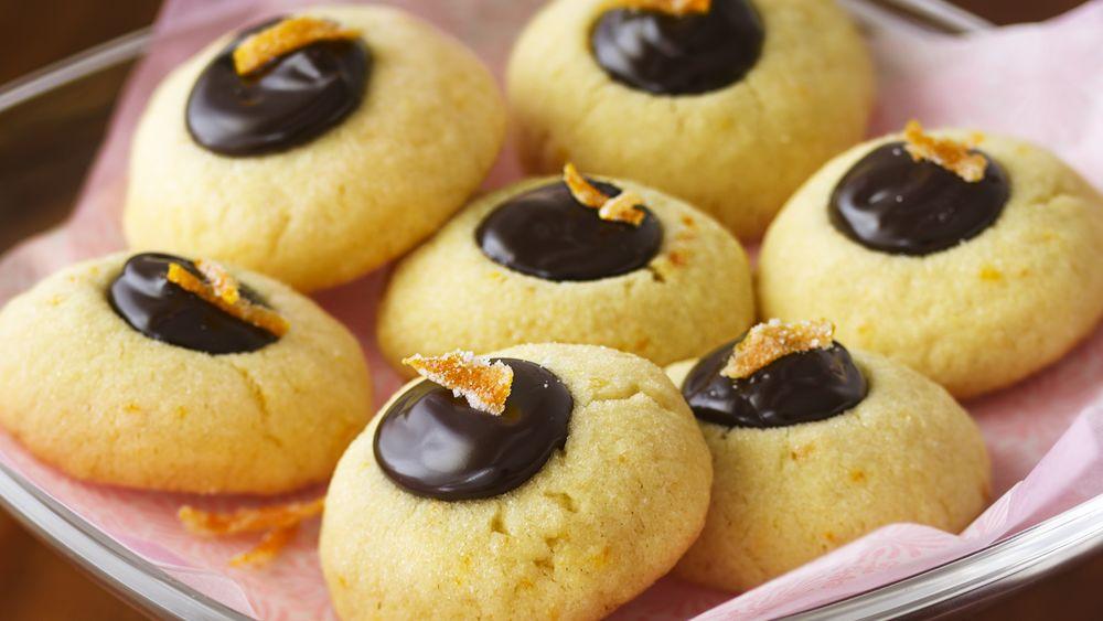 Truffle-Filled Orange Thumbprint Cookies