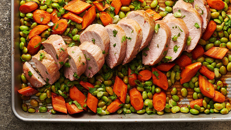 Sheet-Pan Asian Pork Tenderloin with Vegetables