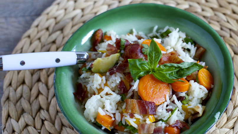 Rice and Bacon Salad