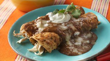Black Bean Enchiladas/ Enfrijoladas