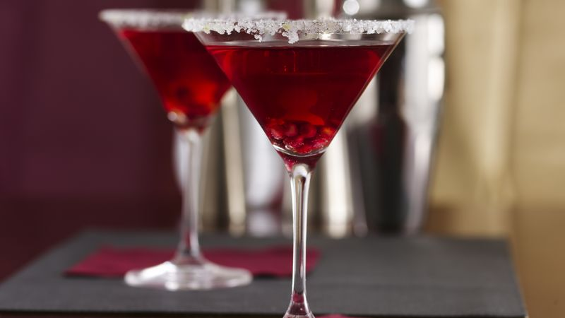 Pomegranate-Ginger Prosecco Cocktails