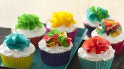 Cupcakes con flores frutales