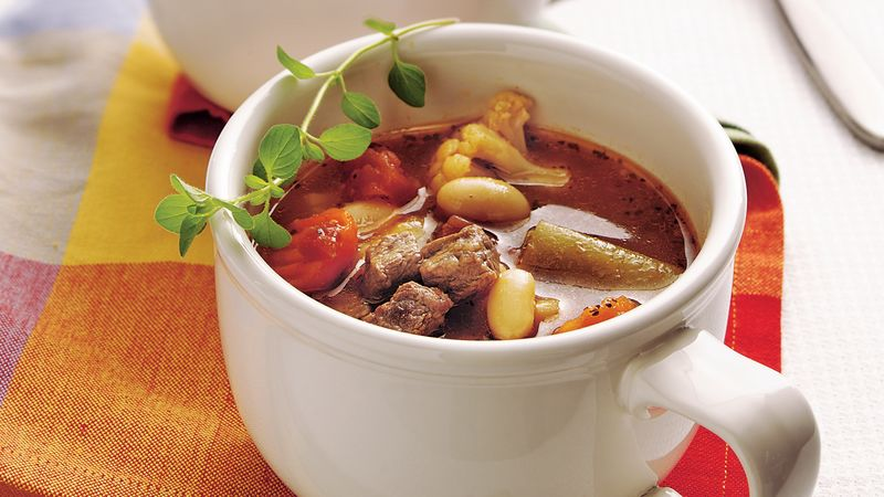 Italian Beef and Bean Soup