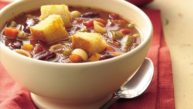 Minestrone with Garlic Croutons