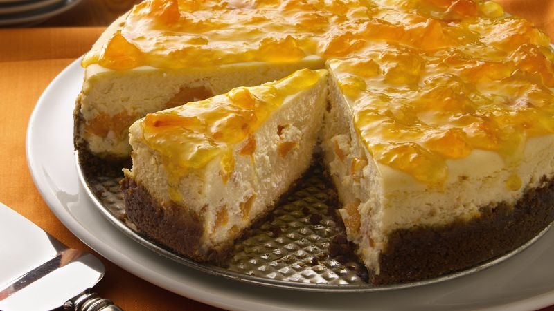 Ginger-Peach Cheesecake