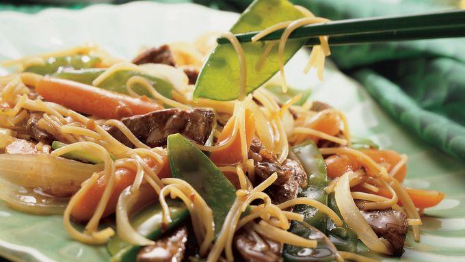 Szechuan Beef Lo Mein