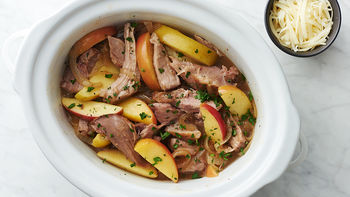 Slow-Cooker Maple Pork Shoulder with Apples
