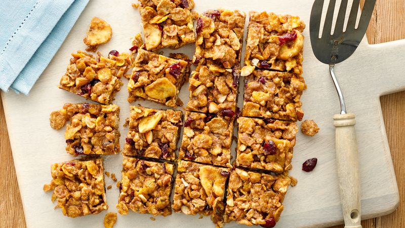 Honey Oat-Cranberry Cereal Bars