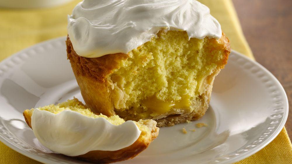 Lemon Curd Jumbo Pie Cupcakes