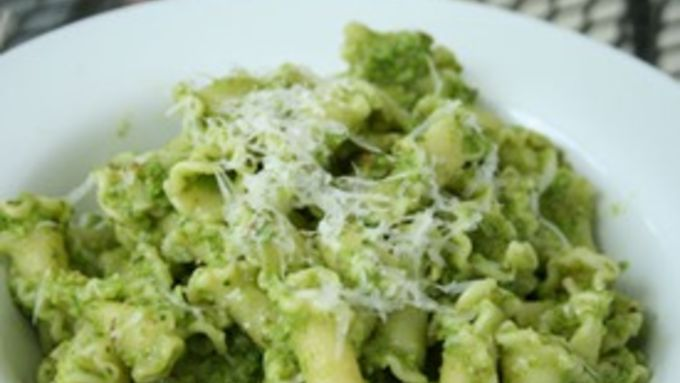 Garlic Scape and Swiss Chard Pesto