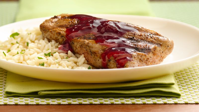 Grilled Pork Tenderloin with Raspberry-Chipotle Sauce ...
