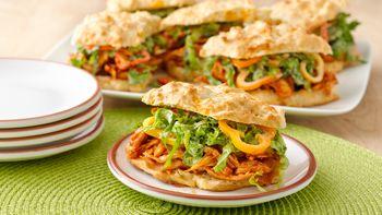 Impossibly Easy BBQ Chicken Biscuit Sandwiches
