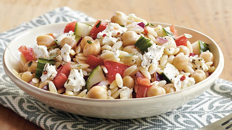 Chickpea, Feta and Orzo Salad