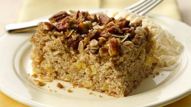 Fresh Apple Streusel Pecan Cake