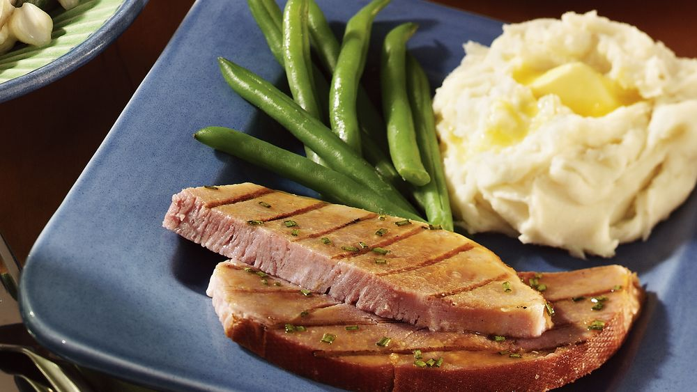 Ham Steak with Apple Glaze