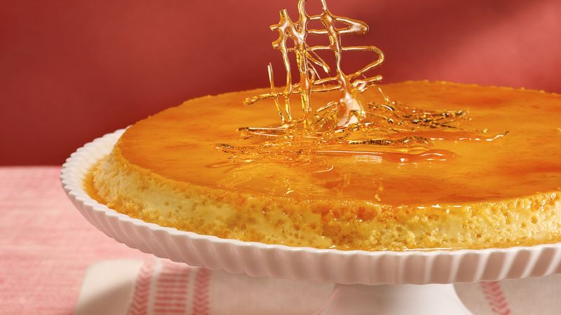 Rich Orange Flan recipe from Betty Crocker