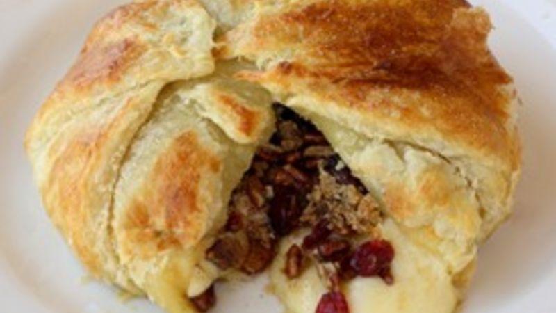 Cranberry and Pecan Brie En Croute
