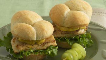 Grilled Curry Chicken Sandwiches
