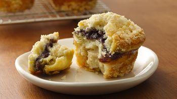 Blueberry-Almond Crème Muffins
