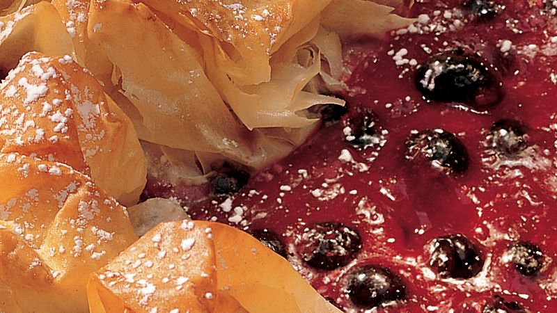 Blueberry-Raspberry Phyllo Croustade