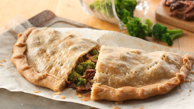Broccoli Beef Calzone Pies
