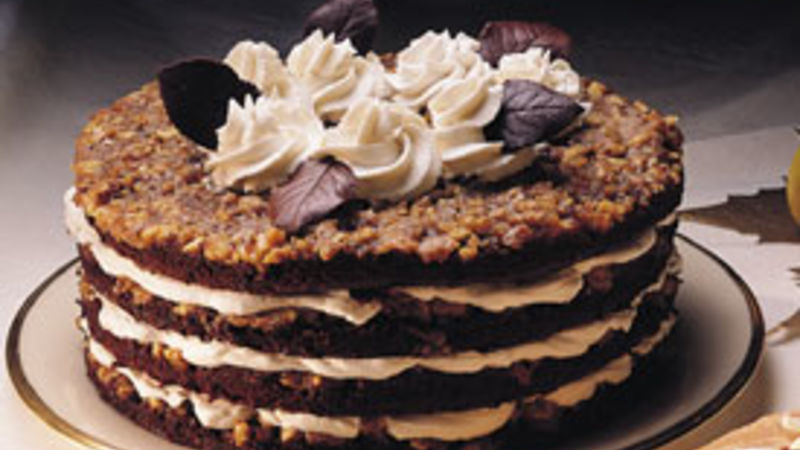 Chocolate-Walnut Torte