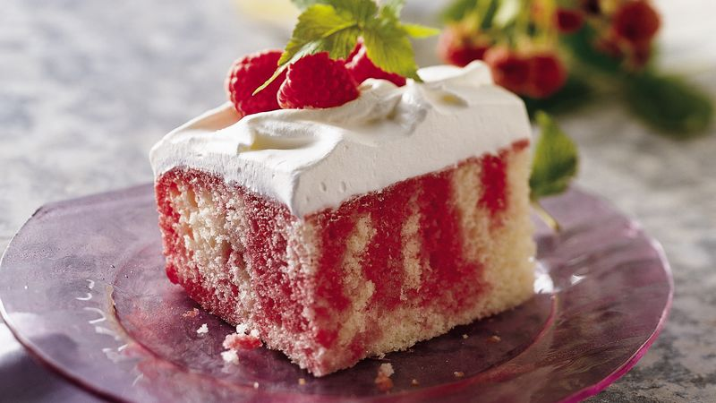 Mexican Jello Cake Recipe: Raspberry Poke Cake Recipe From Betty Crocker