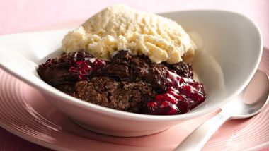 Chocolate Raspberry Cobbler