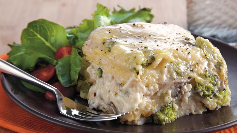 Slow-Cooker Chicken Broccoli Lasagna