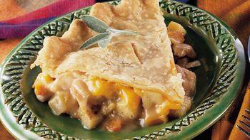 Chicken, Apple and Onion Pot Pie