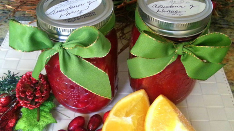 Fresh Orange and Cranberry Preserves