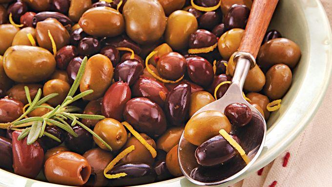 Warm Lemon Rosemary Olives