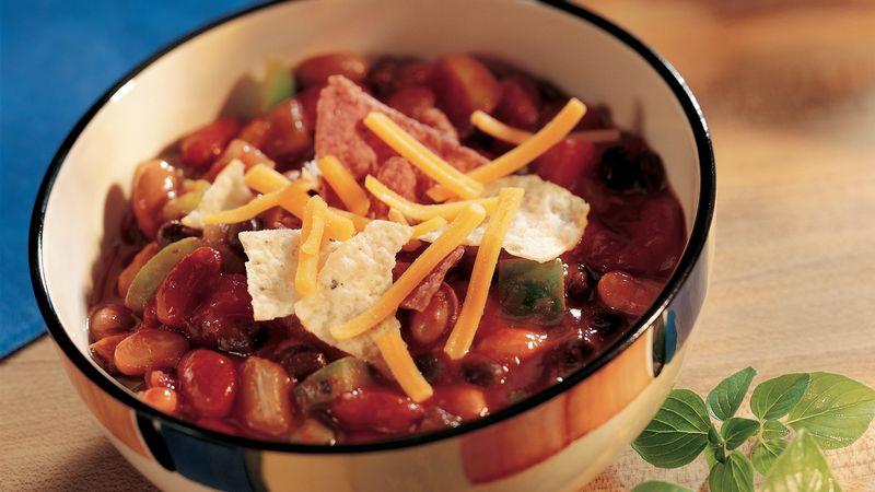 Three-Bean Enchilada Chili