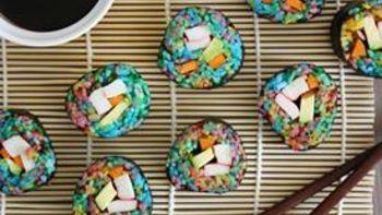 Rainbow Sushi Rolls