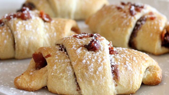 Chocolaty Hazelnut and Bacon Crescents