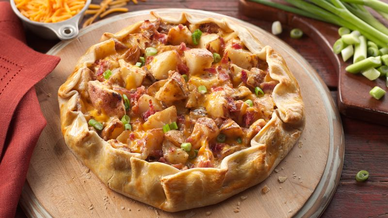 Baked Potato and Bacon Galette