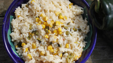 Rice with Poblano Peppers and Corn