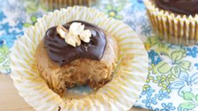 Mini Peanut Butter Cheesecakes with Granola Crust
