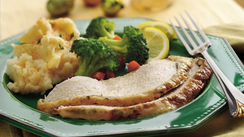 Garlic and Lemon Roasted Turkey Breast
