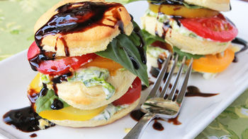 Caprese Biscuit Stackers