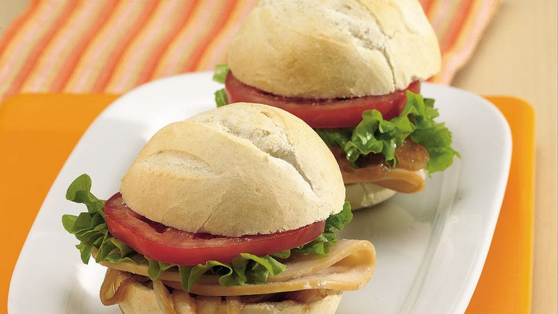 Chicken and Caramelized-Onion Sandwiches