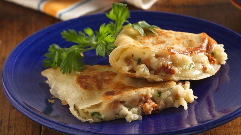 Potato and Sausage Quesadillas