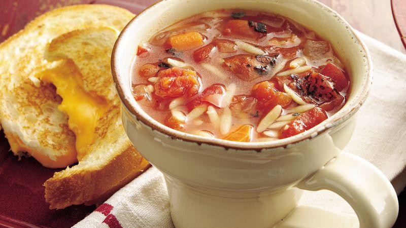Fire-Roasted Tomato Basil Soup