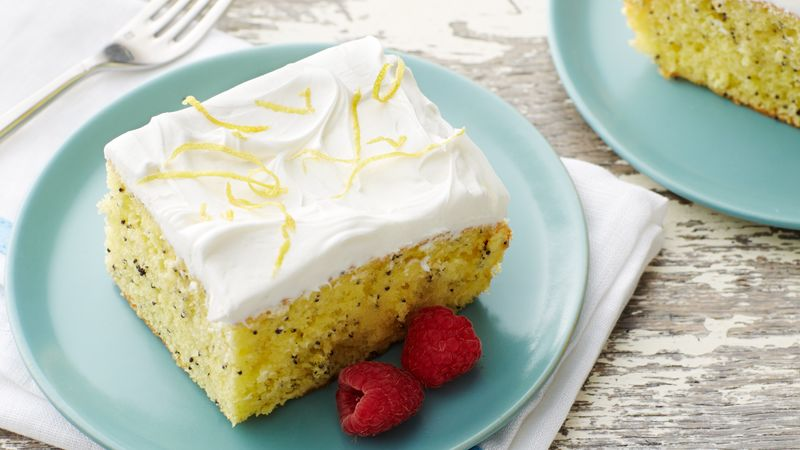 Lemon Poppy Seed Poke Cake