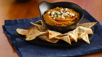 Taco Hummus and Tortilla Chips