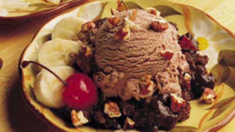 Hot Fudge Sundae Cake for Two