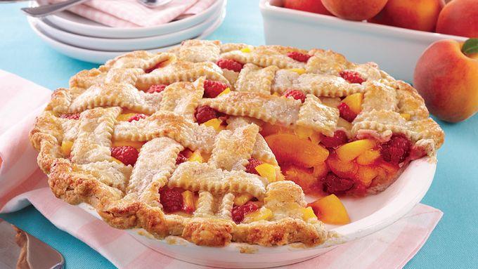 Peach Melba Lattice Pie
